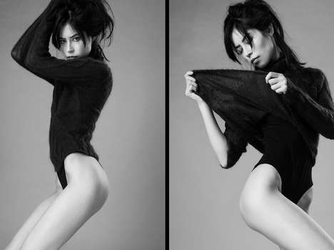 Sensually Nonchalant Photoshoots - Emily by James Broadhurst is Shot Entirely in Black and White