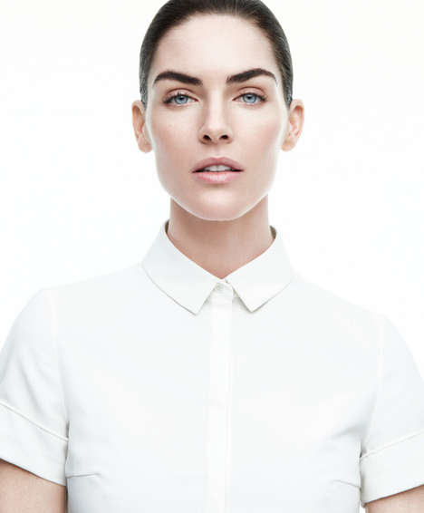 Sophisticated Ivory-Hued Editorials - The Harper's Bazaar US Issue Stars Hilary Rhoda