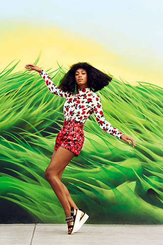 Funkily Vibrant Celeb Editorials - The Harper