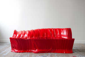 Designer Martijn Rigters Created This Rippled Sofa by Cutting Foam With Hot Wires