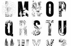 Illusory Nature-Inspired Fonts