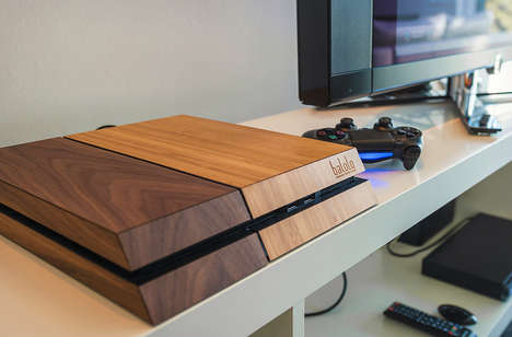 Wooden Console Covers - The Balolo Wooden Cover Gives Makes Your PS4 a Makeover