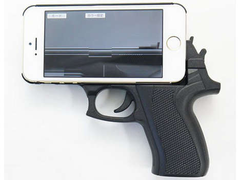 Pistol Grip Phone Cases - This Gun Grip Case for the iPhone 5 Turns Your Phone Into a Handgun