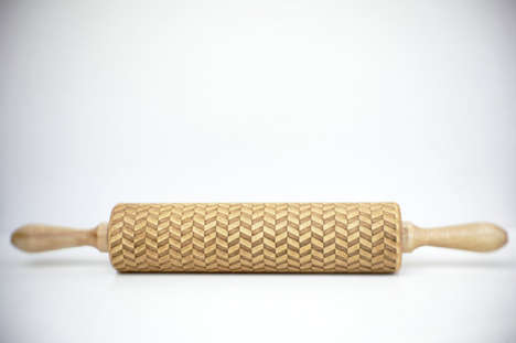 Embossing Rolling Pins - Designer Zuzia Zuber Creates Laser Engraved Baking Utensils