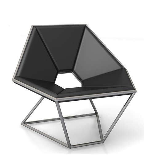 Sharp Hexagonal Seating - The Hexa Lounge Chair by Contempo is Sculptural and Contemporary