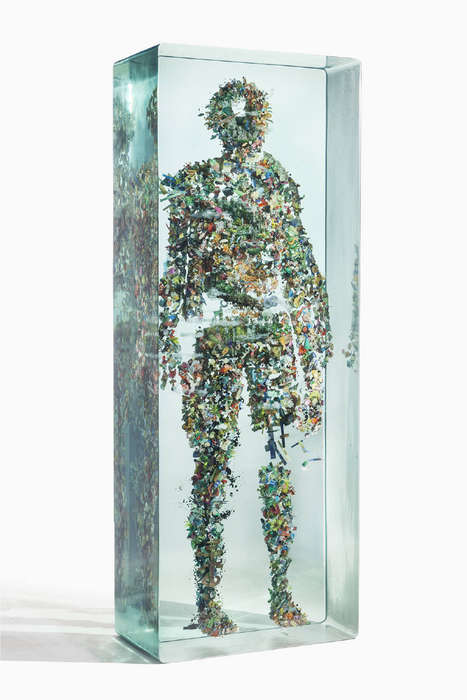 3D Collaged Sculptures - Psychogeographies by Dustin Yellin Take on Human Forms