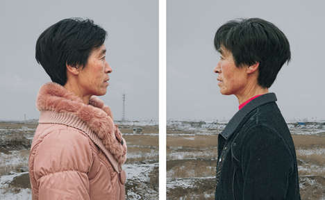 Piercing Elderly Twin Photography - This Photo Series Captures Identical Twins Over the Age of 50