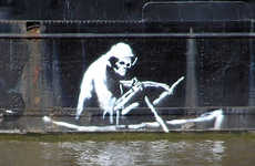 Water-Crisis Relief Graffiti - Banksy Collaborates With BNE to Celebrate World Water Day