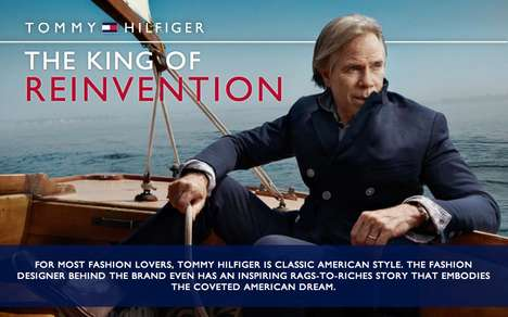 Evolutionary Fashion Designer Charts - This Tommy Hilfiger Infographic Honors Him and His Brand