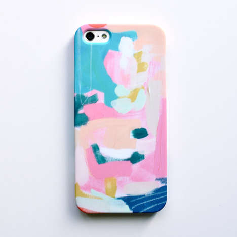 Whimsical Flower Phone Cases - Britt Bass Turner Spreads Cheer with Her Technology-Based Art