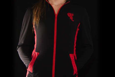 Unusually Seductive Sportswear - The Fire & Lace Lingerie Sportswear Steps Away From Generic Styles