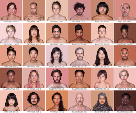 Mosaic Human Pantone Portraits - The 'Humanæ' Project is an Artistic Series About Skin Color