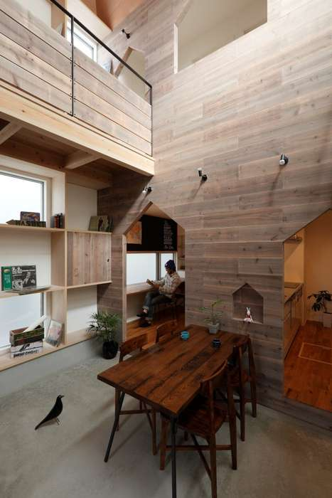Rustic Urban Housing - The Hazukashi House by Alts Design Office is Country-Meets-City Chic