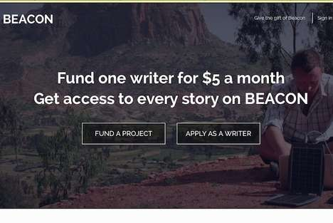 Crowdfunding Writer Project Websites - Beacon is Kickstarter for Writers Working on Passion Projects