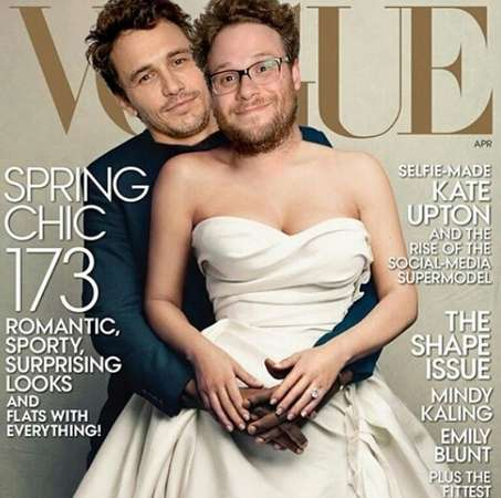 Celebrity Spoof Magazine Covers - James Franco and Seth Rogen Parody the Kim and Kanye Vogue Cover