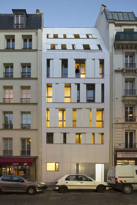 Peekaboo Parisian Apartments - The Residence Poissonniers Turns Old French Architecture Contemporary