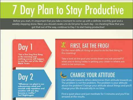 Productivity-Aiding Infographics - This Productivity Plan is Going to Help You Survive the Week