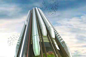 British Designers Introduce the Hyper-Speed Vertical Train