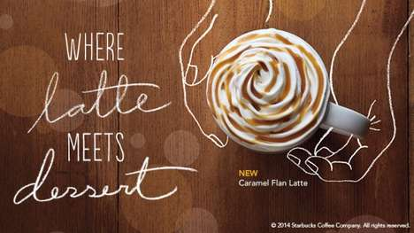 Caramel-Infused Java Treats - The Starbucks New Drink Menu Will Get You Addicted