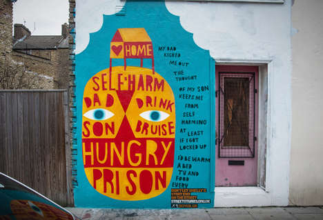 Humanizing Homeless People Paintings - These Murals by Depaul UK is a Show of Street Art Activism