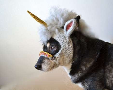 Mythical Canine Costumes - The Unicorn Dog Mask by Hiroko Fukatsu is Inspired by Year of the Horse