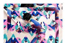 Geometrically Camouflaged Shoe Ads