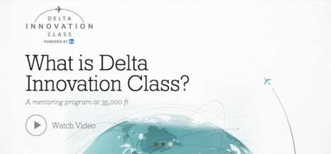 In-Flight Business Classes - You Can Be Mentored at 10,000 Feet in the Delta Innovation Class