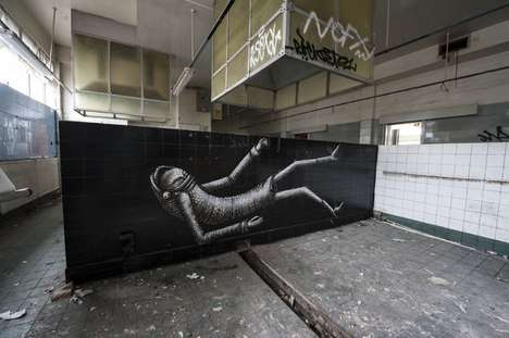 Abandoned Hotel Art Galleries - Photographer Gaz Mather Captures an Impromptu Graffiti Gallery