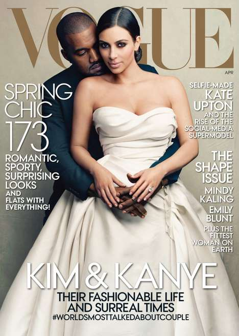 Inaugural Celebrity Fashion Covers - Kanye & Kim Star In the First Ever Family Vogue Photo Shoot