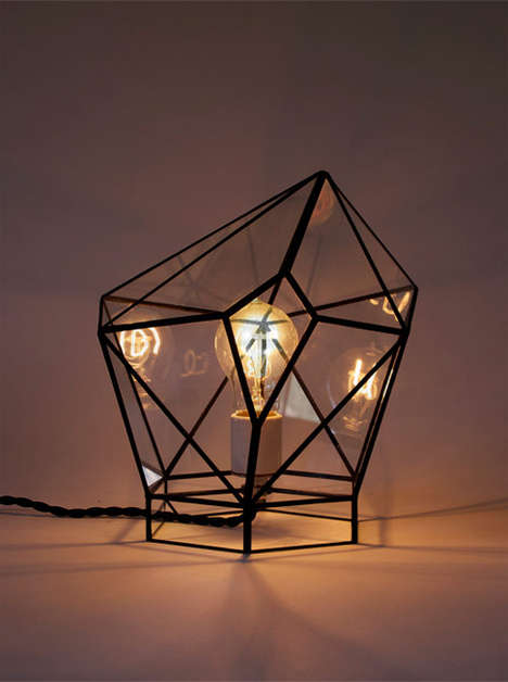 Geometric Night Lights - These Cubic Nightshades Cast Minimalist Light On Crowded Rooms