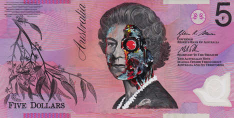 Pop Culture Queen Graffiti - This Anonymous Australian Artist Transforms Currency into Works of Art
