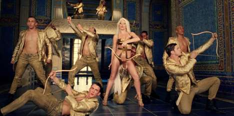 Gorgeously Grecian Music Videos - The Lady Gaga G.U.Y. Music Video is Very Versace