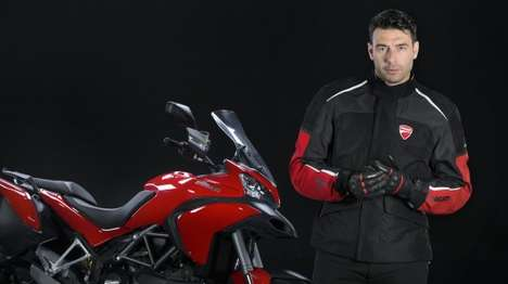 Wireless Airbag Jackets - This Airbag Jacket Wirelessly Inflates From a Motorbike Control System