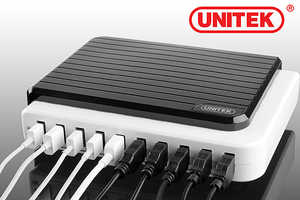The Multi-Port USB Hub Allows for Ten Devices to be Plugged in