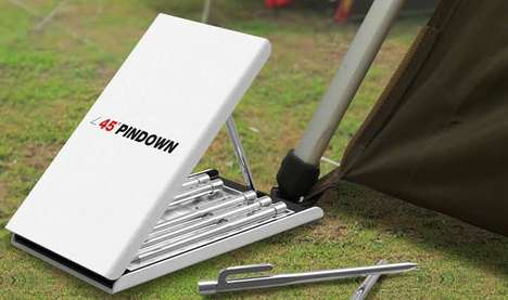 Pedal-Pushed Tent Kits - The Pin-Down Uses Your Foot For Leverage When Erecting Your Camping Shelter