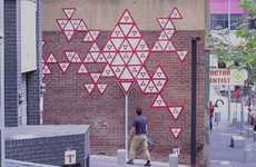 Kaleidoscopic Traffic Sign Art