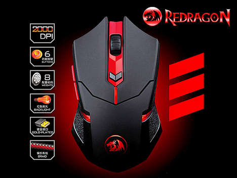 Fiery Gaming Peripherals - This USB Game Mouse Will Step the Casual Gamer Up to the Core Gamer Level