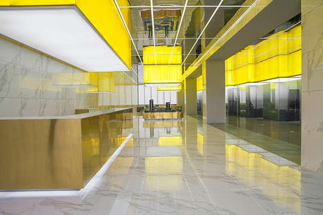 Reflective Boxed Showrooms - The Juxing Tower Showroom by People