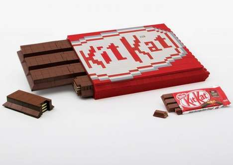 Chocolate-Inspired Building Blocks - The LEGO Kit Kat Encourages People to Build Their Own Break