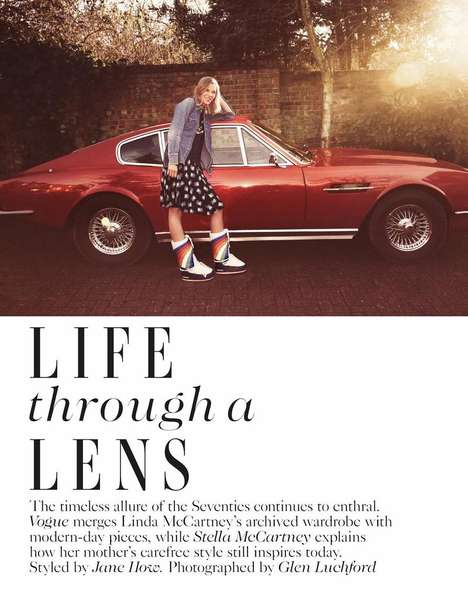 Late Artist-Inspired Editorials - The British Vogue Photoshoot Stars Suvi Koponen