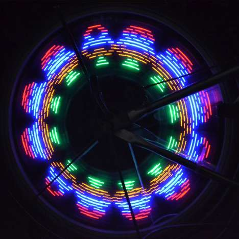Illuminated Wheel Spokes - This Light-Up Bike Wheels Will Add Your Own Character to Your Bicycle