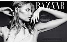 Minimally Elegant Fashion - The Harper's Bazaar Poland Issue Stars Magdalena Frackowiak