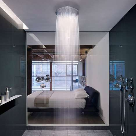 Elegant Waterfall Shower Heads - The Raindance Shower Head Feels Like You