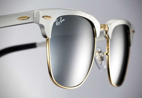 Retro Aluminum Shades - Aluminium Adds a Modern Twist to the Classic Ray-Ban Clubmaster Sunglasses
