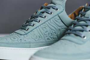 The Filling Pieces Spring 2014 Shoes are Embossed with a Floral Pattern