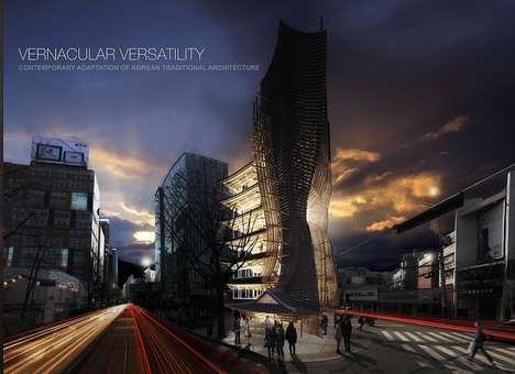 Undulating Nail-Free Architecture - The eVolo Skyscraper Competition Winner is Anciently-Inspired