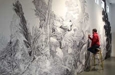 Sprawling Sharpie Murals - Grand Pale Maw by Sean Sullivan Took Seven Months to Complete