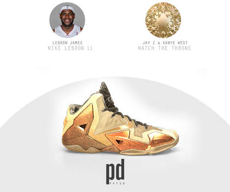 Rap Album Sneakers - Designer Crosses NBA Stars