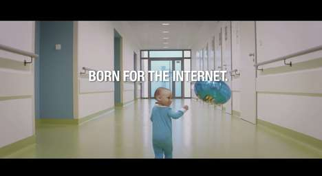 Web-Savvy Baby Ads - The Internet Baby Ad by MTS India Shows It Was Born for the Web