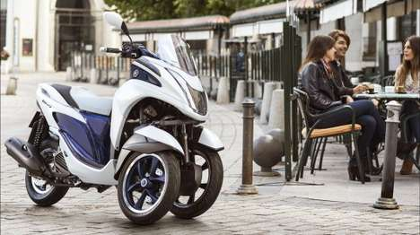 Powerful Leaning Trikes - The Yamaha Tricity Can Lean and Tilt Like a Regular Two-Wheeler Motorbike
